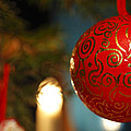 Red Christmas Bauble - Available For Licensing by Ulrich Kunst And Bettina Scheidulin