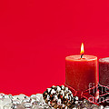 Red Christmas Candles by Elena Elisseeva