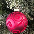 Red Christmas Ornament by Aimee L Maher ALM GALLERY