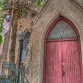 Red Church Door by Dale Powell