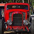 Red Classic Hotrod by Dean Ferreira