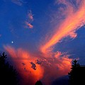 Red Clouds In The Evening by Helmut Rottler
