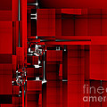 Red Construction I by Richard Ortolano