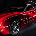 1997 Red Corvette by Joseph LaPlaca