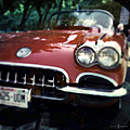 Red Corvette With Trees by Tim Nyberg