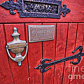 Red Cottage Door by Kate Purdy