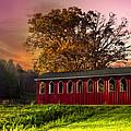 Red Covered Bridge by Debra and Dave Vanderlaan