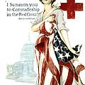 Red Cross World War 1 Poster  1918 by Daniel Hagerman