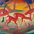 Red Deer 1 by Franz Marc