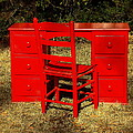 Red Desk And Chair by Rodney Lee Williams