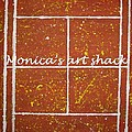 Red Dirt Of A Tennis Court by Monica Art-Shack