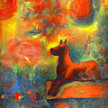 Red Dog In The Garden 2 by Nato  Gomes