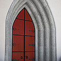Red Door At Our Lady Of The Atonement by Ed Gleichman