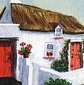 Red Door Cottage Like Maggies by Barbara McDevitt
