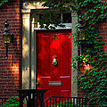 Red Door In Chicago by Lynn Bauer