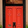 Red Door On New York City Brownstone by Amy Cicconi