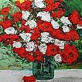 Red Explosion by Allan P Friedlander