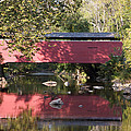 Red Fairhill Covered Bridge Two by Alice Gipson