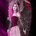 Red Fairy by Artist Nandika  Dutt