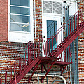 Red Fire Escape Usa II by Sally Rockefeller