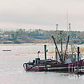 Red Fishing Boat by Elizabeth Thomas