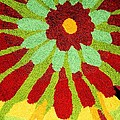 Red Flower Rug by Janette Boyd