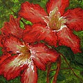 Red Flowers by Nancie Johnson