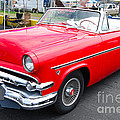 Red Ford Convertible by Mark Spearman