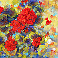 Red Geraniums II by Peggy Wilson