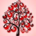 Red Glass Ornaments by Anastasiya Malakhova