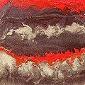 Red Gold And Brown Abstract by Julia Apostolova
