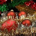 Red Gold Green Christmas by Kenneth Sponsler