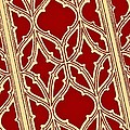 Gothic Pattern On Red by Chris Berry