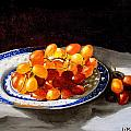 Red Grapes On Chinese Dsh by Jeannette Scranton