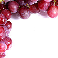 Red Grapes With White Copy Space by Simon Bratt Photography LRPS