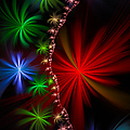 Red Green And Blue Fractal Stars by Matthias Hauser