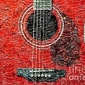 Red Guitar Center - Digital Painting - Music by Barbara Griffin