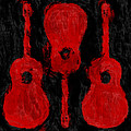 Red Guitars by David G Paul