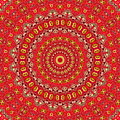 Red Gum Flowers Mandala by Ben Bassey
