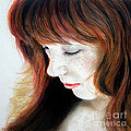 Red Hair And Freckled Beauty II by Jim Fitzpatrick