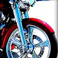 Red Harley Davidson  by April Perez