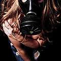 Red Head Gas Mask by Jt PhotoDesign