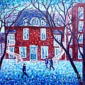 Red House In Montreal - Cityscape by Cristina Stefan