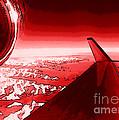 Red Jet Pop Art Plane by R Muirhead Art