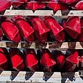 Red Kayaks by Thomas Marchessault