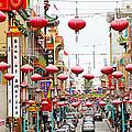 Red Lanterns Of Chinatown by Evan Peller