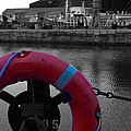 Red Lifebelt At Albert Dock 2 by Joan-Violet Stretch