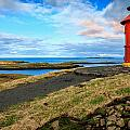 Red Lighthouse by Alexey Stiop