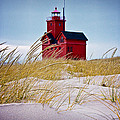 Red Lighthouse By Holland Michigan Known As Big Red by Randall Nyhof