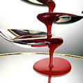 Red Liquid Fountain by Dr. John Brackenbury/science Photo Library